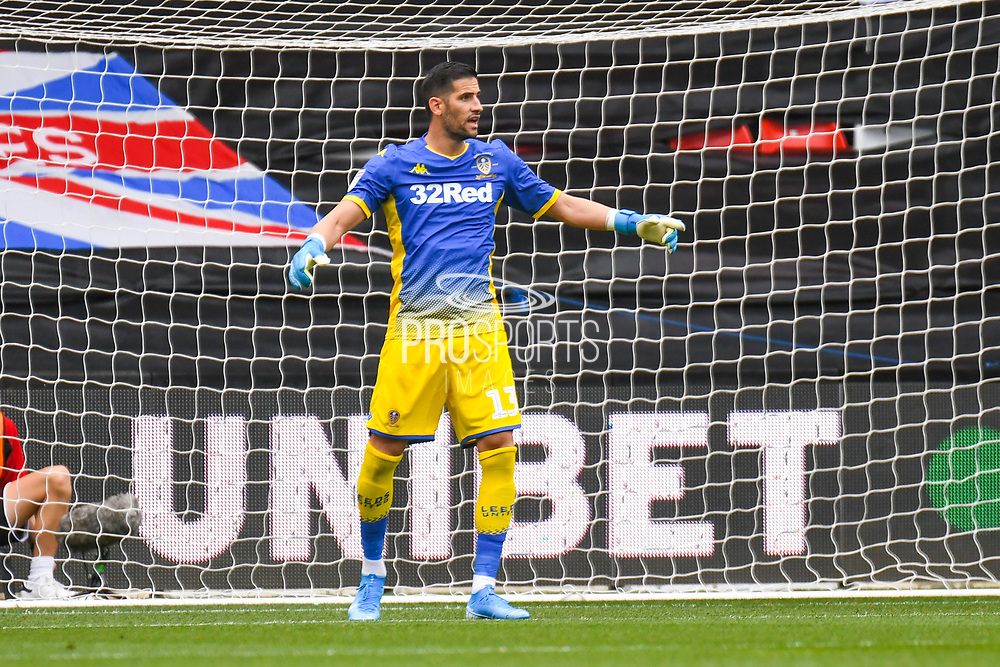Francisco Casilla of Leeds United (13) in action during the EFL Sky Bet Championship match between Bristol City and Leeds United at Ashton Gate, Bristol, England on 4 August 2019.