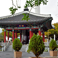 Pavilions at Yongdusan Park in Busan, South Korea<br />