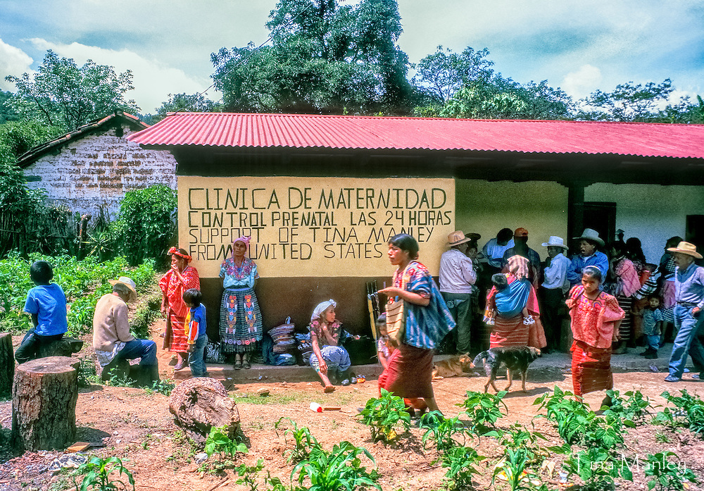 Maternity clinic in the village of Acal in the northwestern highlands of Guatemala.