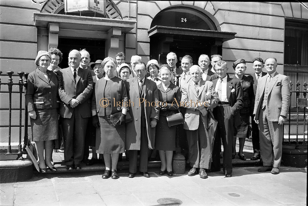 17/05/1962<br /> 05/17/1962<br /> 17 May 1962<br /> Irish Red Cross Society New Council elected at Westland Row Dublin. Pictured is the newly elected council. Included in front row are Mrs Felix Hackett, Vice Chairman; Mrs Tom Barry, Chairman and Col. Michael McInerney, Honorary Treasurer.