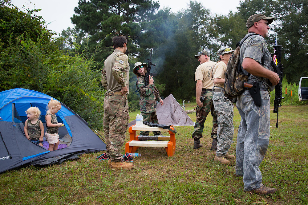 Field training exercises for Georgia Security Force III% militia, held on private property near Yatesville, Ga. on Saturday, August 29, 2015.  Photo by Kevin D. Liles/kevindliles.com