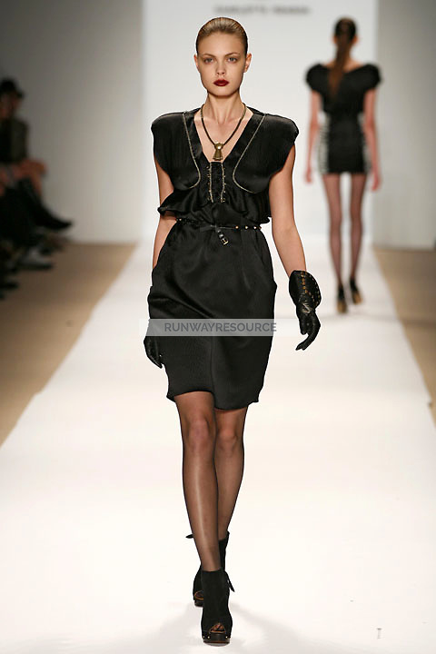 Masha wearing the Charlotte Ronson Fall 2009 Collection