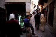 Talaa Kbira street is the main circulation path inside Fez Medina (Fes el-Bali)