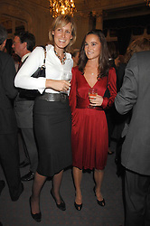 Left to right, SANTA SEBAG-MONTEFIORE and PIPPA MIDDLETON at a party to celebrate the publication of 101 World Heroes by Simon Sebag-Montefiore at The Savile Club, 69 Brook Street, London W1 on 9th October 2007.<br /><br />NON EXCLUSIVE - WORLD RIGHTS