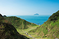 The trails at Badouzi wind up and down the seaside cliffs.  There are many places to view Keelung Island and much of the Northeast Coast of Taiwan.