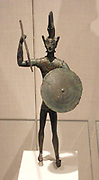 bronze statuette of a warrior. Etruscan 5th century BC