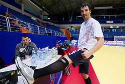 David Spiler  during practice session of Slovenia National Handball team during 10th EHF European Handball Championship Serbia 2012, on January 17, 2012 in Millennium Center, Vrsac, Serbia. (Photo By Vid Ponikvar / Sportida.com)