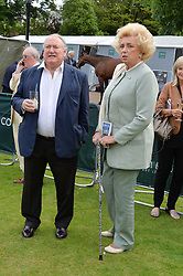 ANTHONY OPPENHEIMER and KIRSTEN RAUSING at Goffs London Sale held at The Orangery, Kensington Palace, London on 15th June 2015.