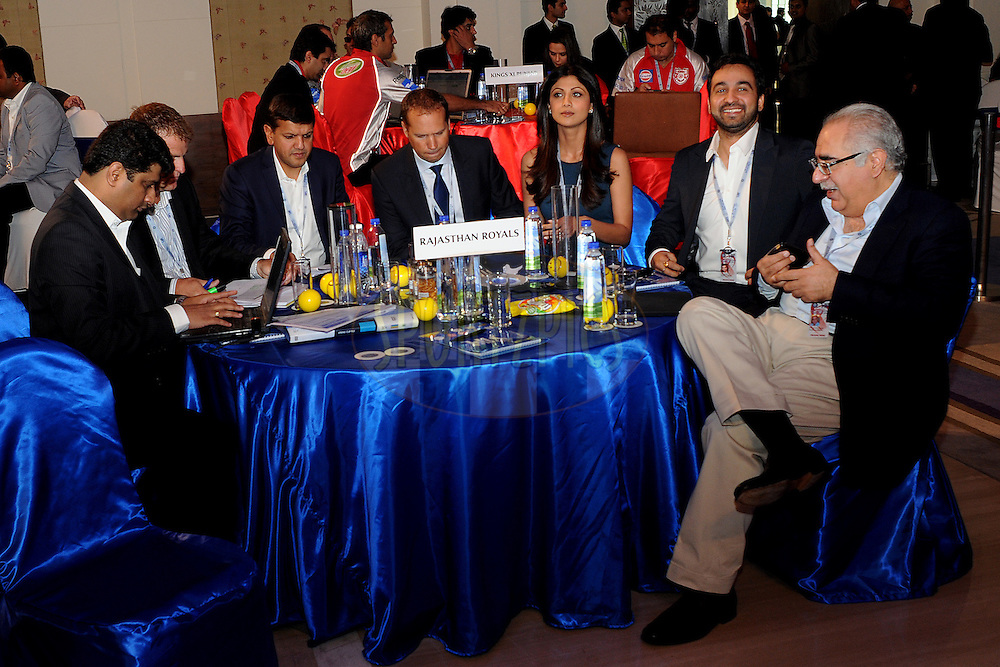 Team Rajasthan Royals during the 2011 IPL (Indian Premier League ) Player Auction held in Bengaluru, Bangalore, Karnataka, India on the 8th and 9th January 2011..Photo by Pal Pillai/BCCI/SPORTZPICS