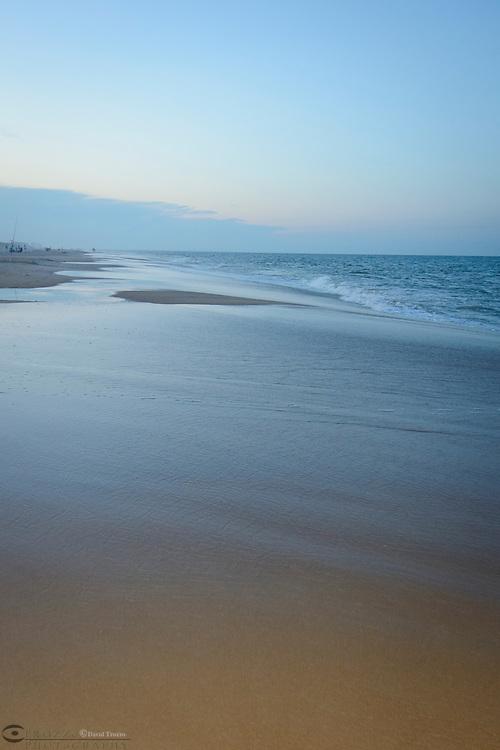 Evening beach scene, Fenwick Island, Delaware, USA.