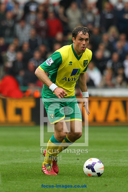 Johan Elmander of Norwich in action during the Barclays Premier League match at the Liberty Stadium, Swansea<br /> Picture by Paul Chesterton/Focus Images Ltd +44 7904 640267<br /> 29/03/2014