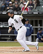 CHICAGO - APRIL 05:  Jose Abreu #79 of the Chicago White Sox bats against the Seattle Mariners on April 5, 2019 at Guaranteed Rate Field in Chicago, Illinois.  (Photo by Ron Vesely)  Subject:  Jose Abreu