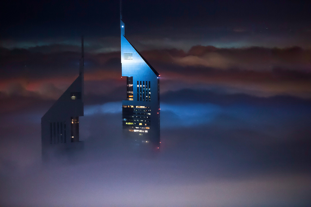Dubai is mesmerizing enough as it is but mix it with fog and it's a whole new planet. <br />