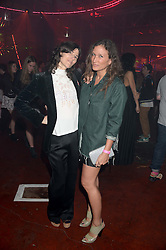 Left to right, BELLA FREUD and LULU KENNEDY at Club DNKY in celebration of #DKNYARTWORKS held at The Firestation, Lambeth High Street, London SE1 on 12th June 2013.