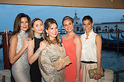 CHRISTINA JUFFALI;;Princess Isabella  Orsini de Ligne de la Tremoille; SONIA FALCONE;  MAGDALENA GABRIEL; BARBARA COPPEL,  Dinner for Sonia Falcone to celebrate her participation in 56th Venice Biennale she represented Bolivia at the Pavilion of the Instituto Italo-Latinoamericano at the Arsenale. Dinner at the Ridotto Ballroom, Hotel Monaco and Grand Canal, Venice, Venice Biennale, Venice. 8 May 2015