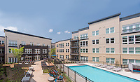 Architectural photo of Mallory Square Apartments in Rockville MD by Jeffrey Sauers of Commercial Photographics, Architectural Photo Artistry in Washington DC, Virginia to Florida and PA to New England