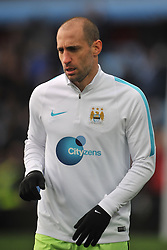 PAOLO ZABALETA  MANCHESTER CITY, Aston Villa v Manchester City, The Emirates FA Cup 4th Round Villa Park Saturday 30th January 2016