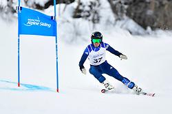 Downhill, WHITLEY James, LW5/7-3, GBR at the WPAS_2019 Alpine Skiing World Championships, Kranjska Gora, Slovenia