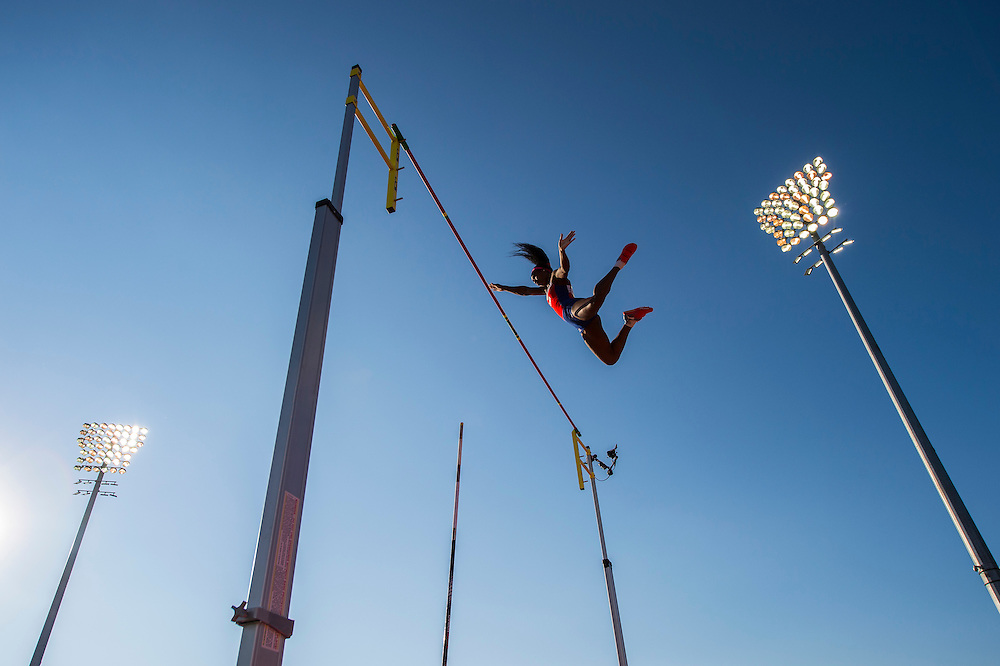 Women's pole vault: Yarisley Silva-Cuba, during athletics competition at the 2015 PanAm Games in Toronto.