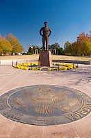 Dwight Eisenhower Statue, Dwight D Eisenhower Presidential Library and Museum, Abilene, Kansas