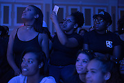 Women in the audience watch a performance during the Black Alumni Reunion Variety Show in Baker Ballroom on Saturday, September 17, 2016. © Ohio University / Photo by Kaitlin Owens