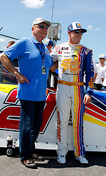September 1, 2018 - Darlington, SC, U.S. - DARLINGTON, SC - SEPTEMBER 01: Daniel Hemric, Richard Childress Racing, Chevrolet Camaro South Point Hotel & Casino (21) and Off-Road Hall of Fame member Walker Evans prior to the running of the 36th annual Sport Clips Haircuts VFW 200 on Saturday September 1, 2018 at Darlington Raceway in Darlington South Carolina (Photo by Jeff Robinson/Icon Sportswire) (Credit Image: © Jeff Robinson/Icon SMI via ZUMA Press)