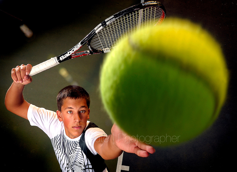 River Valley High's Darian Orozco is the 2012 Appeal-Democrat Boys Tennis Player of the Year. (Nate Chute/Appeal-Democrat)