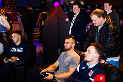 Bailey Wright in action as Bristol City players visit the Belong by GAME gaming arena to play the new FIFA 18 - Rogan/JMP - 27/09/2017 - Merchant Street - Bristol, England.
