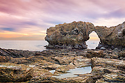 Arch Rock in Corona Del Mar of Newport Beach California