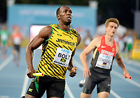 Usain Bolt of Jamaica 4 x 100 m relay pictured