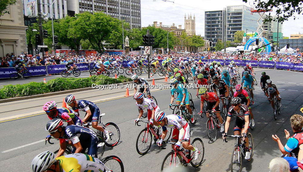 2015 Santos Tour Down Under. Adelaide. Australia.Sunday 25.1.2015. Stage 6. Adelaide Street Circuit.90km<br /> &copy; ATP / Damir IVKA<br />  - Tour Down Under Australia 2015, Cycling, road race, Radrennen, Australien -  Radsport - Rad Rennen -<br /> - fee liable image: copyright &copy; ATP - IVKA Damir