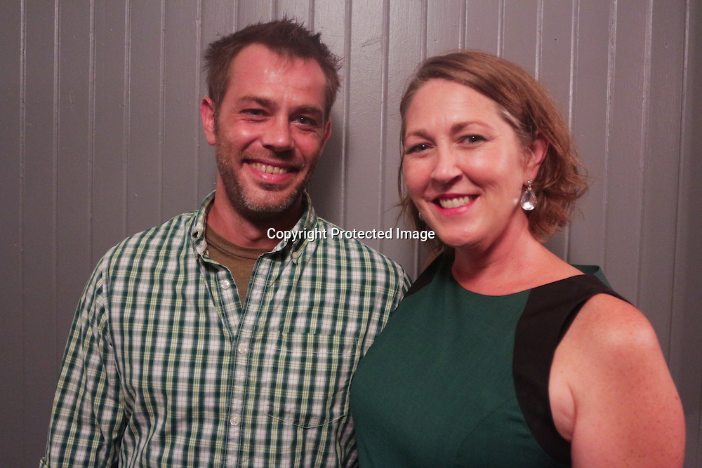 Alex Wharff, left, and Katherine Vernon pose for a photo during the Green Party Sunday September 7, 2014 at City Stage Co. (Jason A. Frizzelle)