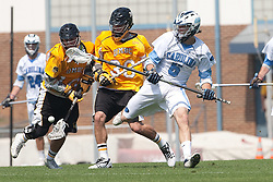 09 May 2009: North Carolina Tar Heels defenseman Mark Staines (6) during a 15-13 win over the University of Maryland - Baltimore County Retrievers on Fetzer Field in Chapel Hill, NC.