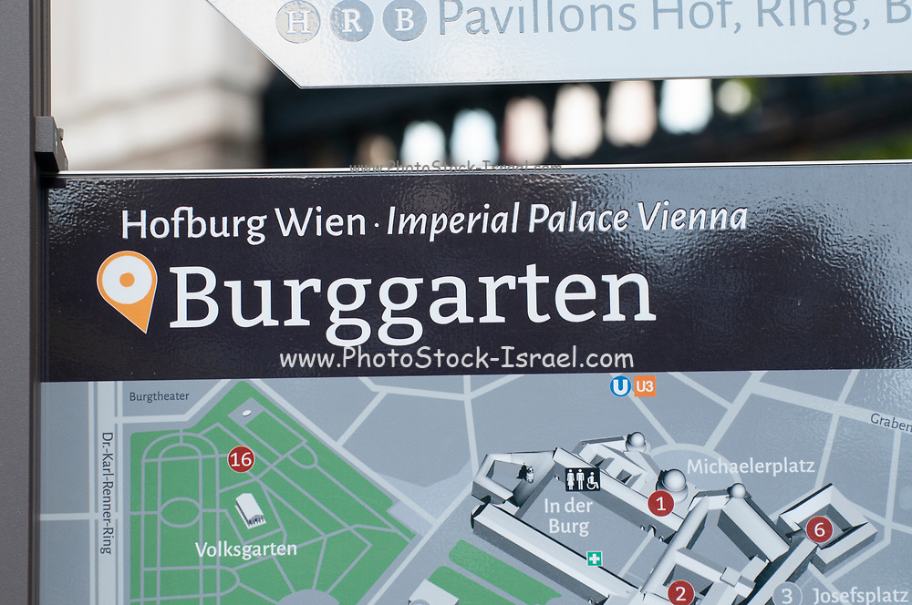 The Hofburg Palace and Burggarten park in Vienna, Austria