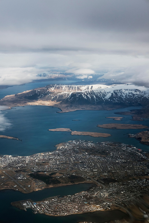 REYKJAVIK 20160405<br /> Reykjavik seen from the air.<br /> Photo: Vilhelm Stokstad / Kontinent