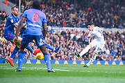 Pablo Hernandez of Leeds United (19) shoots during the EFL Sky Bet Championship match between Leeds United and Bolton Wanderers at Elland Road, Leeds, England on 23 February 2019.