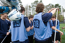 04 April 2008: North Carolina Tar Heels men's lacrosse on the turf during practice in Chapel Hill, NC.