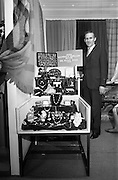 24/04/1964<br /> 04/24/1964<br /> 24 April 1964 <br /> Stands at the Irish Export Fashion Fair at the Intercontinental Hotel, Dublin. Irish Souvenir and jewellery Co. Ltd., (180, Parnell Street, Dublin) stand at the fair.