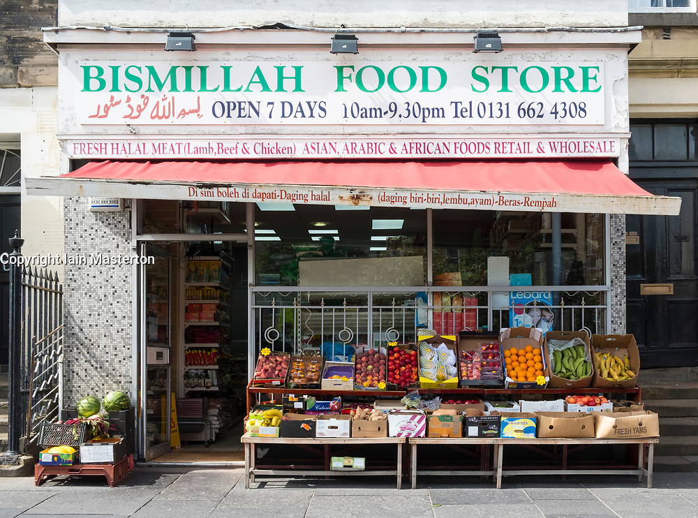 Middle Eastern  shop on Nicholson Square in central Edinburgh, Scotland, United Kingdom