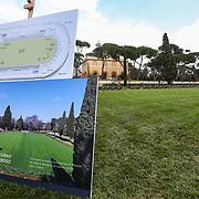 Roma 24/03/2018 Piazza di Siena<br /> Presentata l'edizione 2018 del concorso di Piazza di Siena, nella foto il campo di gara tornato in erba