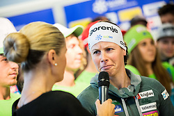 Vesna Fabjan during official presentation of the outfits of the Slovenian Ski Teams before new season 2016/17, on October 18, 2016 in Planica, Slovenia. Photo by Vid Ponikvar / Sportida