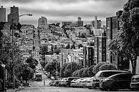 Union Street, Russian Hill (monochrome)
