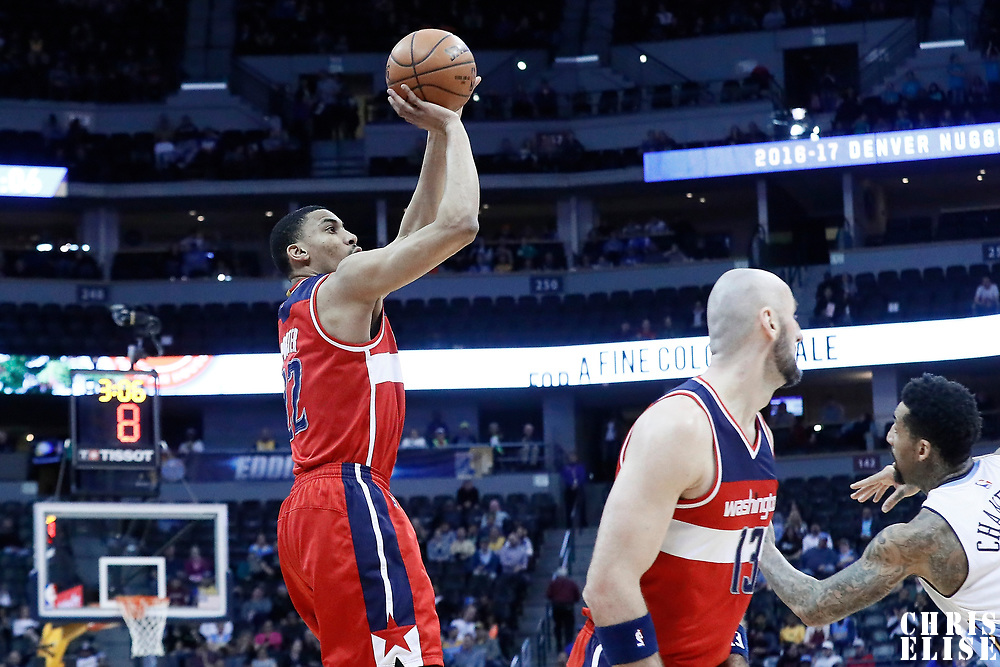 08 March 2017: Washington Wizards forward Otto Porter Jr. (22) takes a jump shot during the Washington Wizards 123-113 victory over the Denver Nuggets, at the Pepsi Center, Denver, Colorado, USA.