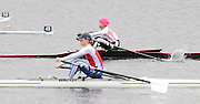 Hazewinkel. BELGUIM,  GBR LW1X,Helen CASEY [Foregorund] and Jane HALL, at the start, for  their semi Final at the 2008 GB Rowing Trials, at the Bloso Rowing Course, 09/03/2008. [Mandatory Credit, Peter Spurrier/Intersport-images] Rowing Course, Bloso, Hazewinkel. BELGUIM