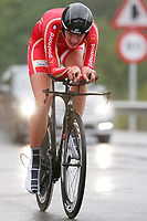 Sykkel<br /> UCI VM 2014<br /> Ponferrada Spania<br /> 22.09.2014<br /> Foto: PhotoNews/Digitalsport<br /> NORWAY ONLY<br /> <br /> Ponferrada - Spain  - wielrennen - cycling - radsport - cyclisme - Pernille Mathiesen (DEN)   pictured during  Championnats du Monde UCI CLM/ UCI TT World Championships (Women Juniors)  WC - Wereldkampioenschap Time Trial Individual