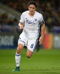 Thomas Delaney of FC Copenhagen - Mandatory by-line: Alex James/JMP - 18/10/2016 - FOOTBALL - King Power Stadium - Leicester, England - Leicester City v FC Copenhagen - UEFA Champions League
