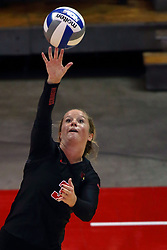 07 October 2017:  Courtney Pence during a college women's volleyball match between the Crusaders of Valparaiso and the Illinois State Redbirds at Redbird Arena in Normal IL (Photo by Alan Look)