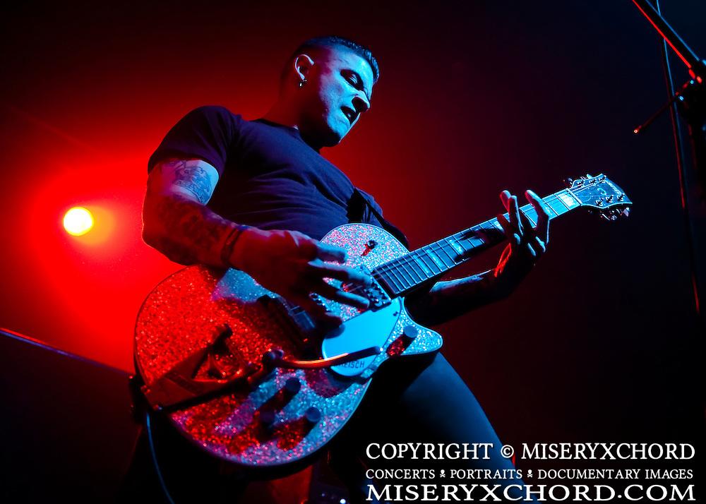 Eric Razo of Viva Hate performs at the Rainbow Ballroom in Fresno, California USA on January 27, 2010.