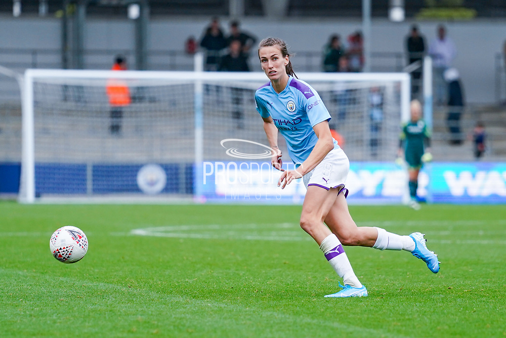 Manchester City Women midfielder Jill Scott (8) during the FA Women's Super League match between Manchester City Women and BIrmingham City Women at the Sport City Academy Stadium, Manchester, United Kingdom on 12 October 2019.