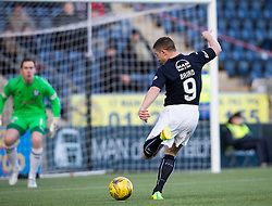 Falkirk's John Baird misses a first half chance. Falkirk 1 v 1 Ayr United, Scottish Championship game played 14/1/2017at The Falkirk Stadium .
